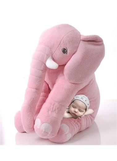 Sole Uyku Arkadaşım Peluş Fil - Büyük Yumuşacık (75 cm)-Sevgiliye HEDİYE Oranj